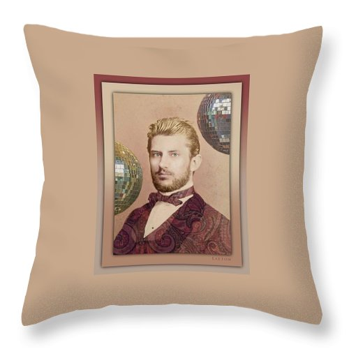 Vintage Throw Pillow featuring the photograph Quietude by Richard Laeton