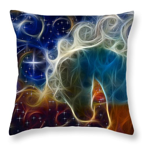 Cosmos Throw Pillow featuring the photograph Racing The Stars by Shannon Story