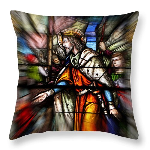 Jesus Throw Pillow featuring the photograph Radiant Jesus by Judy Vincent