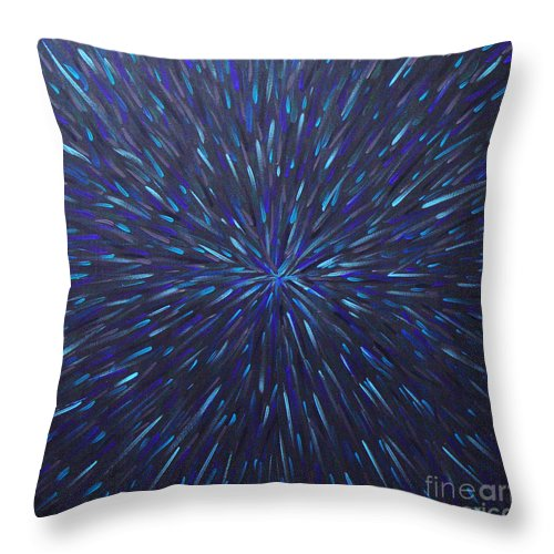 Abstract Throw Pillow featuring the painting Radiation Grey by Dean Triolo