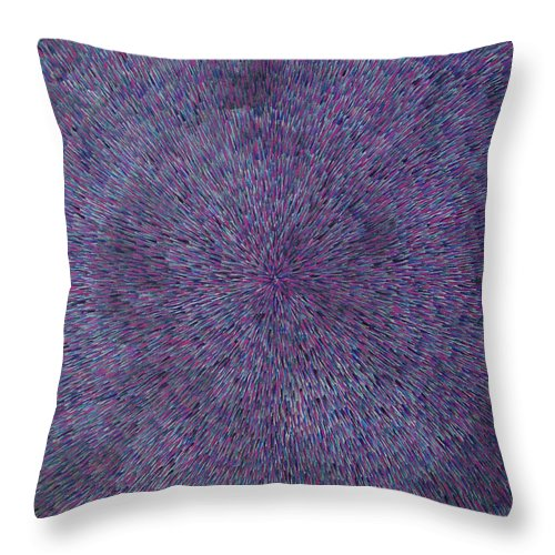 Abstract Throw Pillow featuring the painting Radiation Violet by Dean Triolo