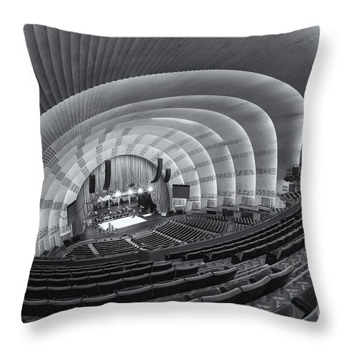 Clarence Holmes Throw Pillow featuring the photograph Radio City Music Hall Iv by Clarence Holmes