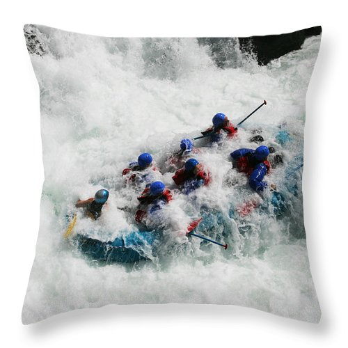 People Throw Pillow featuring the photograph Rafter's Get Submerged by George Herbert