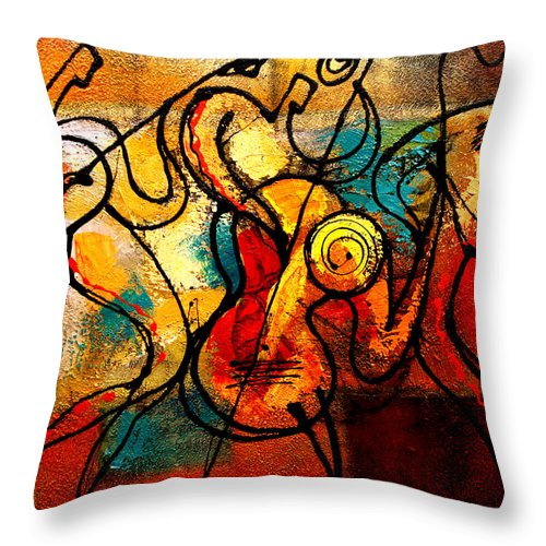 Throw Pillow featuring the painting Ragtime by Leon Zernitsky