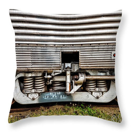Christopher Holmes Photography Throw Pillow featuring the photograph Rail Support by Christopher Holmes