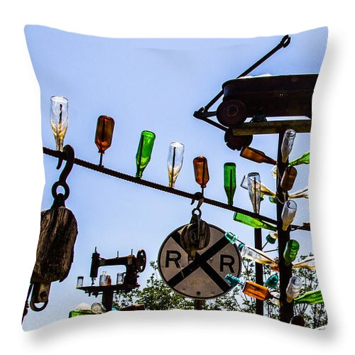 Bottleneck Ranch Throw Pillow featuring the photograph Railroad by Angus Hooper Iii
