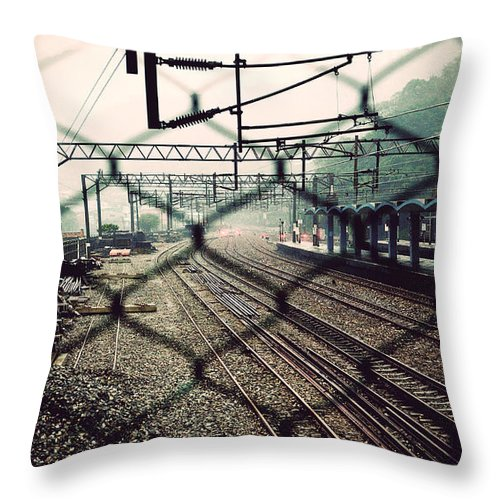 Asia Throw Pillow featuring the photograph Railway Station by Yew Kwang