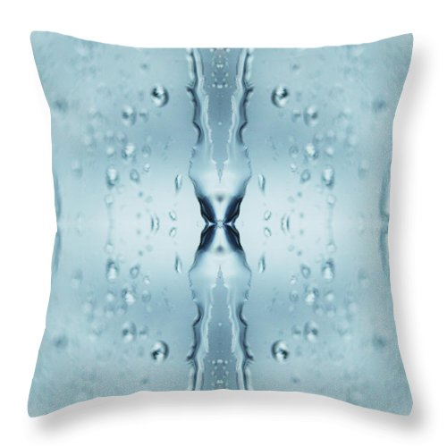 Transparent Throw Pillow featuring the photograph Rain Against Window by Silvia Otte