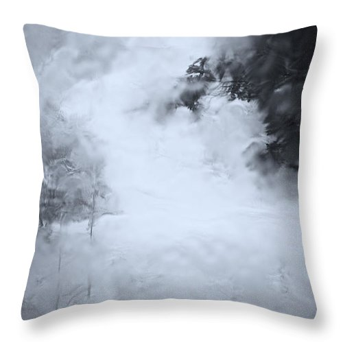 Abstract Throw Pillow featuring the photograph Rain by Theresa Tahara