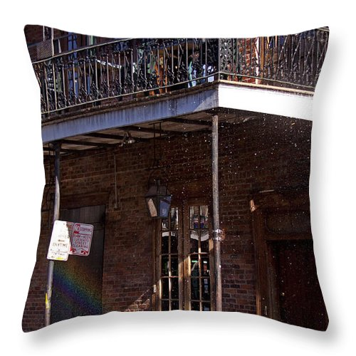 Bicycle Throw Pillow featuring the photograph Rainbow Bike  #4445 by J L Woody Wooden
