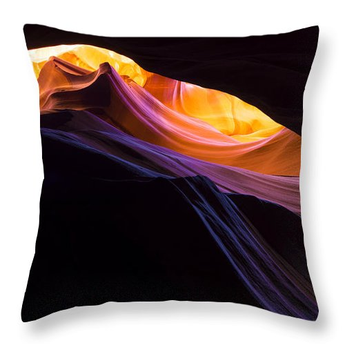Rainbow Canyon Throw Pillow featuring the photograph Rainbow Canyon by Chad Dutson