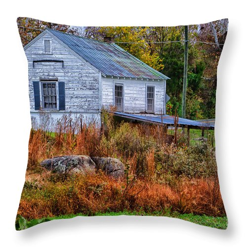 Rain Throw Pillow featuring the photograph Rainbow Roof by Scott Hervieux