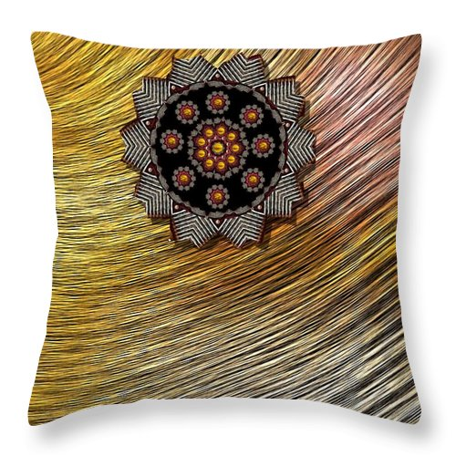 Rainbow Throw Pillow featuring the mixed media Rainbows In The Sun by Pepita Selles