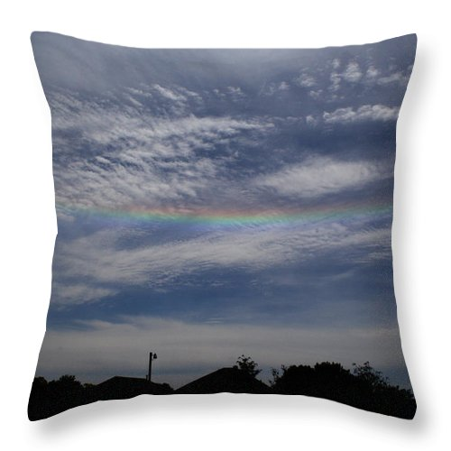Rainbow Throw Pillow featuring the photograph Rainless Rainbow by Dan McCafferty