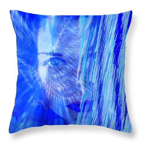 Rainy Day Dreams Throw Pillow featuring the digital art Rainy Day Dreams by Seth Weaver