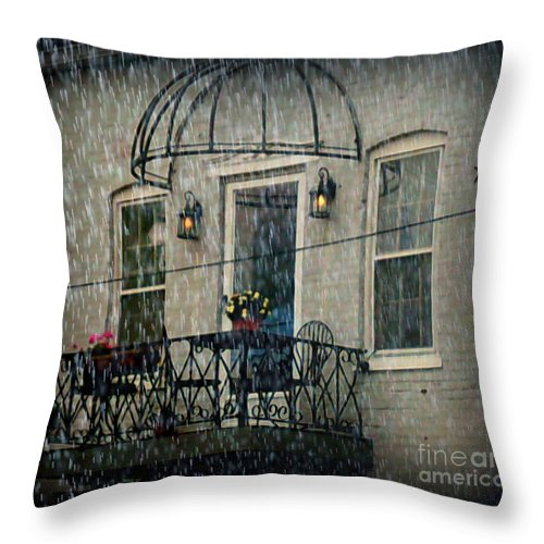 Throw Pillow featuring the photograph Rainy Day by Kelly Awad
