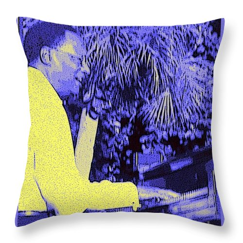 Ramsey Lewis Throw Pillow featuring the photograph Ramsey Lewis Concert 2007 by Barbie Corbett-Newmin