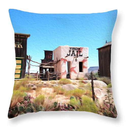 Utah Throw Pillow featuring the photograph Random View In Utah by Tracy Winter