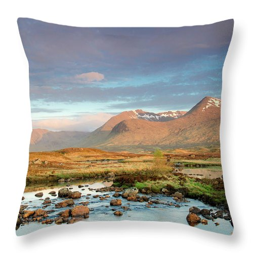 Scenics Throw Pillow featuring the photograph Rannoch Moor by Mike Dow Photography
