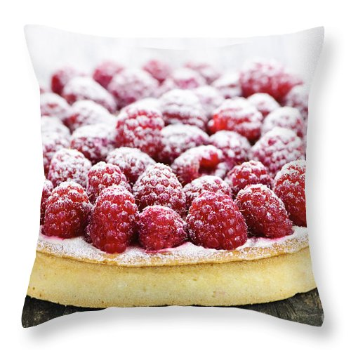 Tart Throw Pillow featuring the photograph Raspberry Tart by Elena Elisseeva
