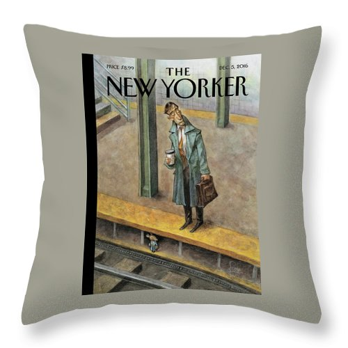 Mice Throw Pillow featuring the painting Rat Race by Peter de Seve