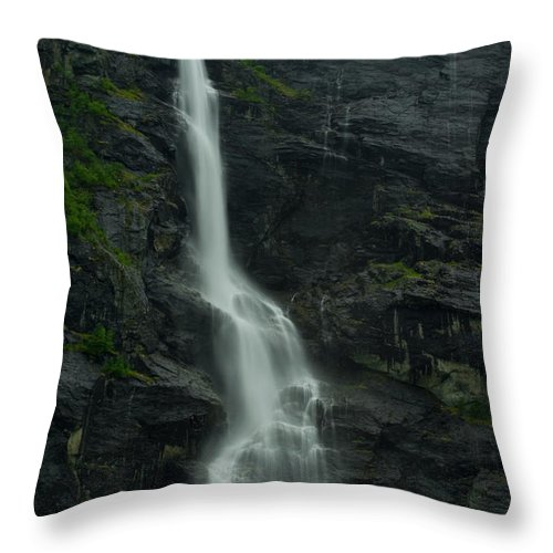 Long Exposure Throw Pillow featuring the photograph Rauma County Waterfall by Benjamin Reed