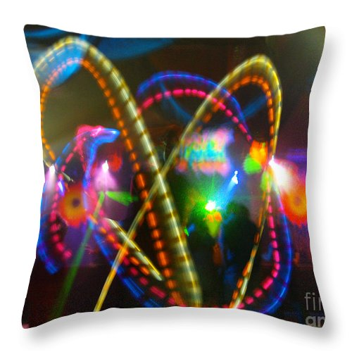 Rave Kris Cross Throw Pillow featuring the photograph Rave Kris Cross by Feile Case
