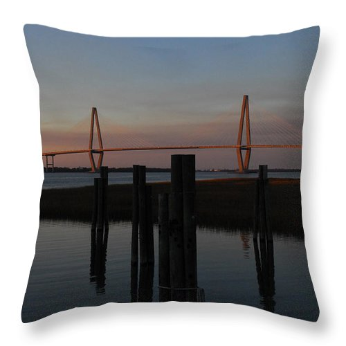 Ravenel From The Dock Throw Pillow featuring the photograph Ravenel From The Dock by Melody Jones
