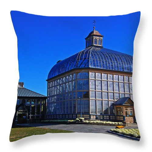 Rawlings Conservatory Throw Pillow featuring the photograph Rawlings Conservatory by Bill Swartwout Fine Art Photography