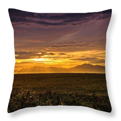 Sunset Throw Pillow featuring the photograph Rays Of Hope by Saija Lehtonen