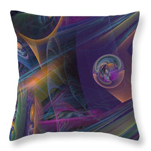 Phil Sadler Throw Pillow featuring the digital art Rayz by Phil Sadler