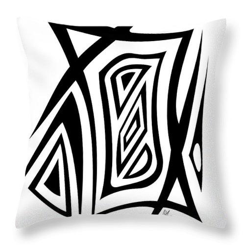 Jamie Lynn Gabrich Throw Pillow featuring the digital art Razer Blade by Jamie Lynn