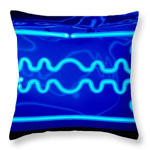 Neon Throw Pillow featuring the photograph Razor Blade by Pacifico Palumbo