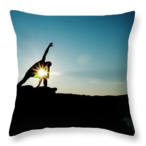 Funky Throw Pillow featuring the photograph Reach For The Sky by Subman