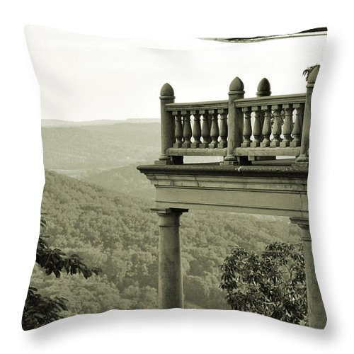 Landscape Throw Pillow featuring the photograph Reading Pagoda by Valoree Skiles