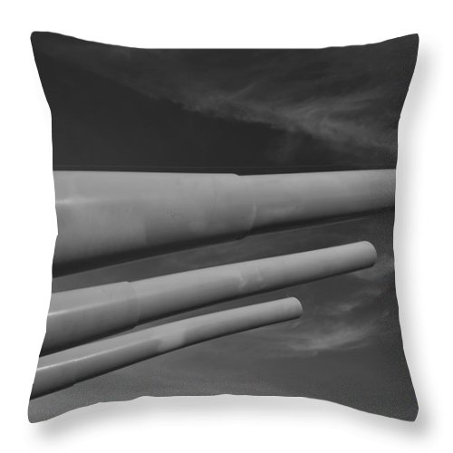 Battle Throw Pillow featuring the photograph Ready For Battle by Richard Booth