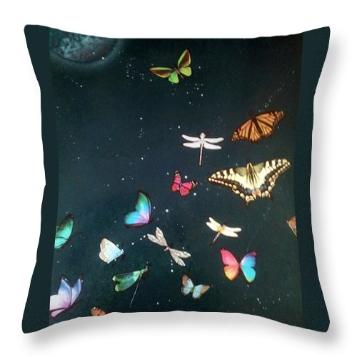 Impressionism Throw Pillow featuring the painting Ready For Take Off by Gerry Smith
