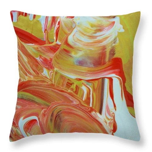 Original Throw Pillow featuring the painting Ready To Go by Artist Ai