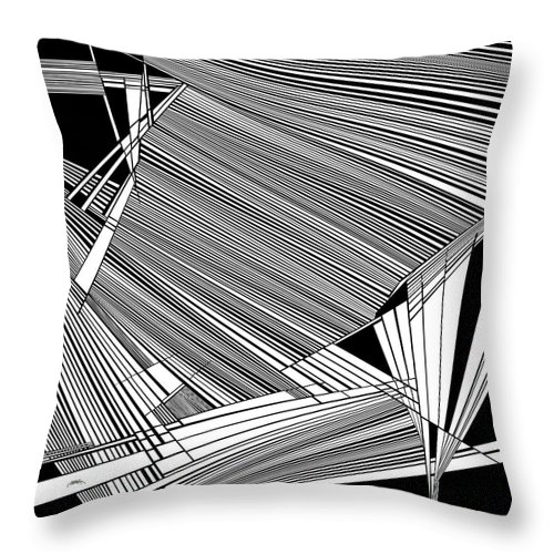 Higher Realms Throw Pillow featuring the painting Realms by Douglas Christian Larsen