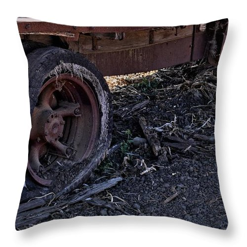 Antique Throw Pillow featuring the photograph Rear Wheel Drive by Michael Gordon