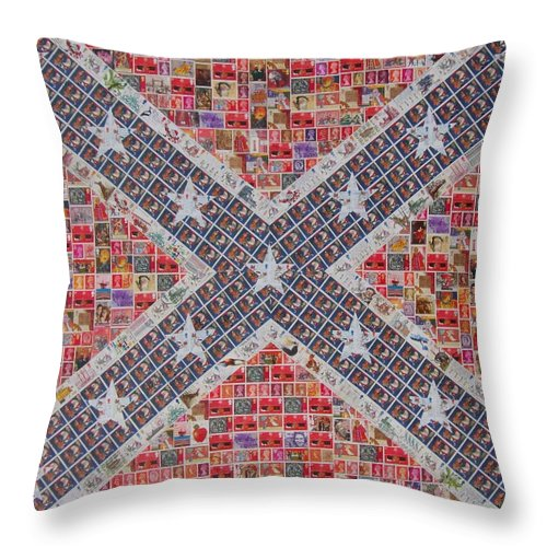 Confederate Flag Throw Pillow featuring the painting Rebel Yell by Gary Hogben