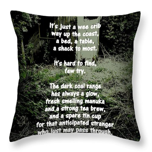Hut Throw Pillow featuring the photograph Recluse by Guy Pettingell