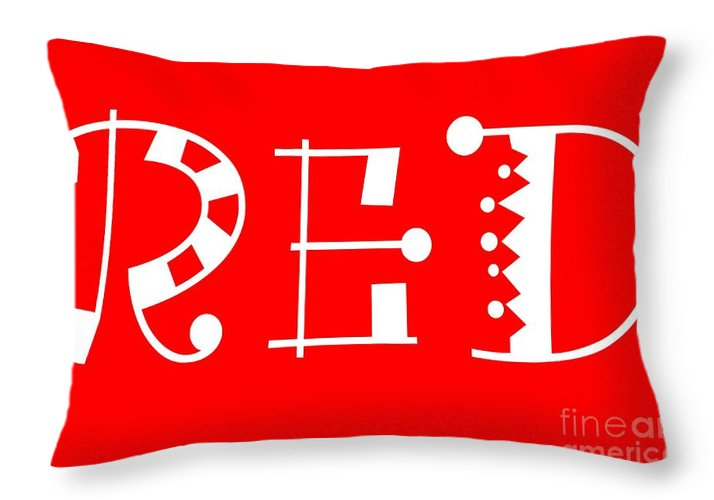 Throw Pillows Primary Colors : Red - Primary Color - Letter Art Throw Pillow for Sale by Barbara Griffin - 20