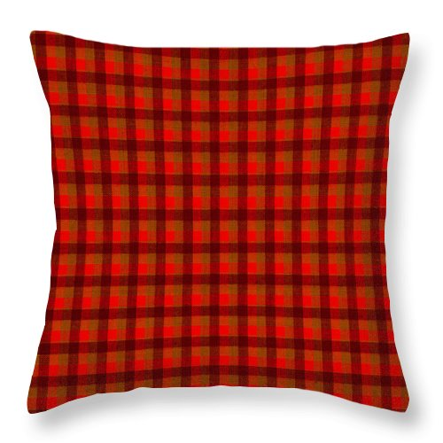 Pattern Throw Pillow featuring the photograph Red And Black Checkered Tablecloth Cloth Background by Keith Webber Jr