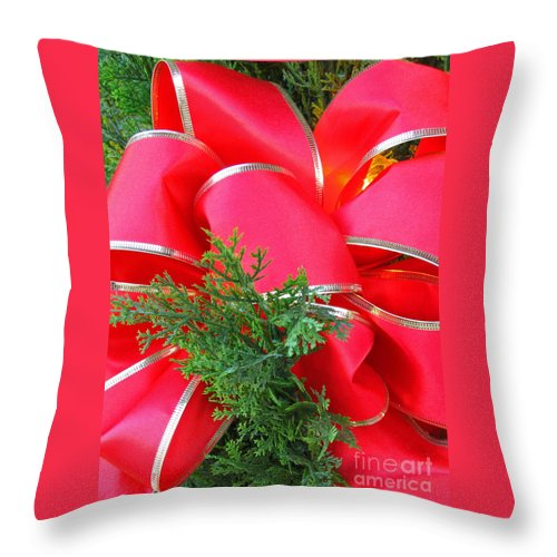 Christmas Throw Pillow featuring the photograph Red And Greens by Ann Horn