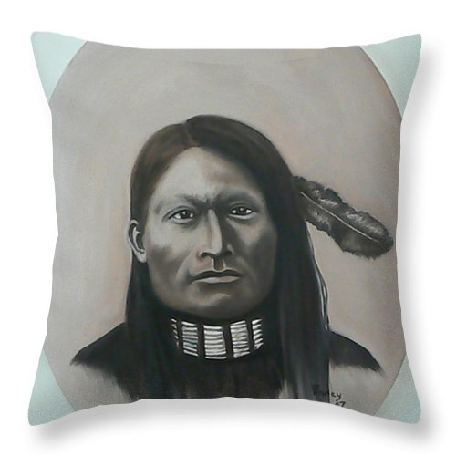 Michael Throw Pillow featuring the painting Red Armed Panther by Michael TMAD Finney