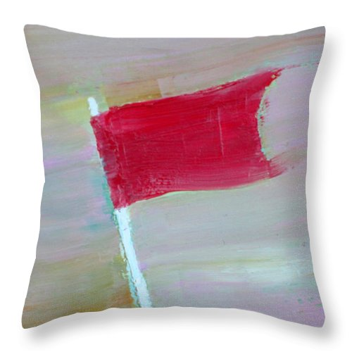 Flag Throw Pillow featuring the painting Red Banner by Fabrizio Cassetta