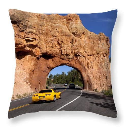 Arch Throw Pillow featuring the photograph Red Canyon Near Bryce Canyon In Utah by Anthony Totah