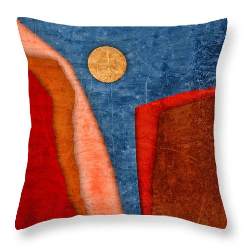 Collage Throw Pillow featuring the photograph Red Canyons by Carol Leigh