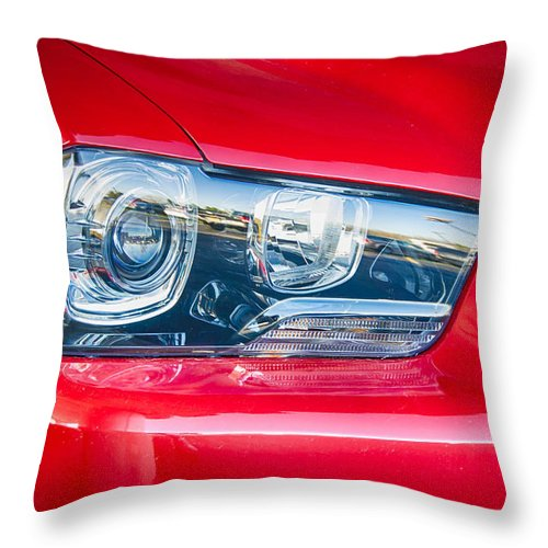 Automobile Throw Pillow featuring the photograph Red Charger 1521 by Guy Whiteley